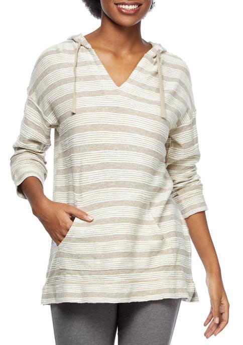 New Directions® Studio Womens 3/4 Sleeve Hoodie