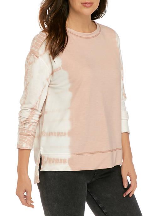 Womans Long Sleeve Tie Dye Pullover