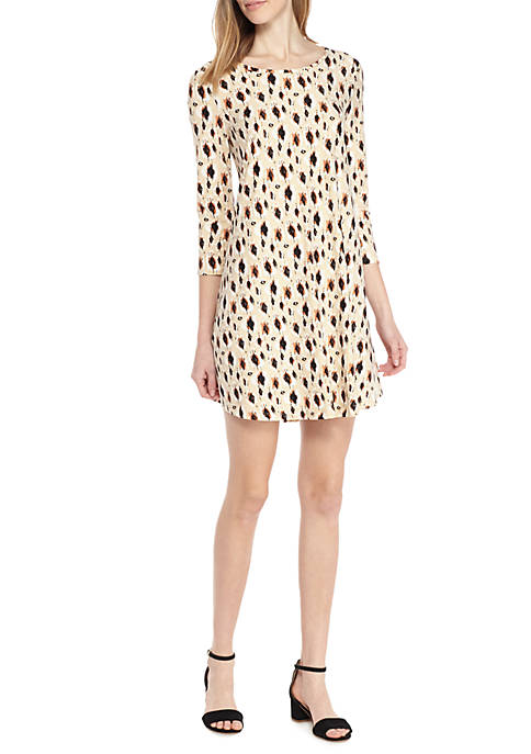 New Directions® Animal Print Swing Dress