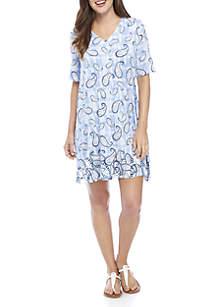 Back Strap Print Dress