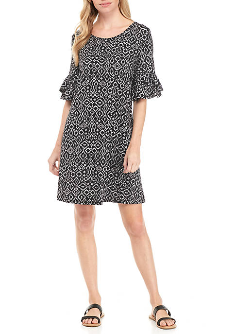 New Directions® Cap Sleeve Knit Dress