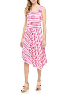 New Directions® Sleeveless Asymmetric Tank Dress