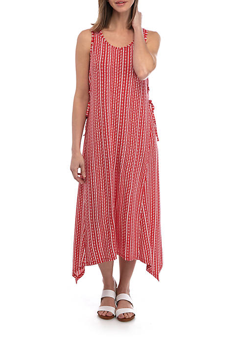 New Directions® Sleeveless Lace Up A Line Dress