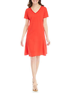 New Directions® Short Sleeve Swing Dress