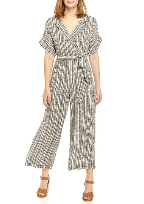 New Directions® Womens Collar Jumpsuit