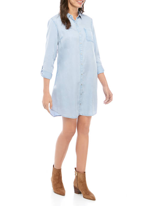 Womens Boyfriend Shirt Dress
