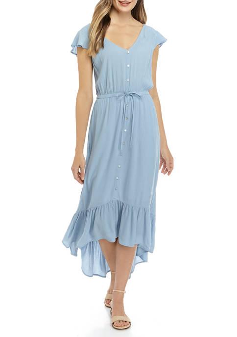 New Directions® Womens Flutter Sleeve Midi Dress