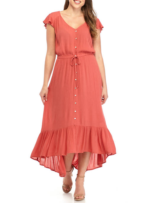 New Directions® Womens Flutter Sleeve Midi Dress