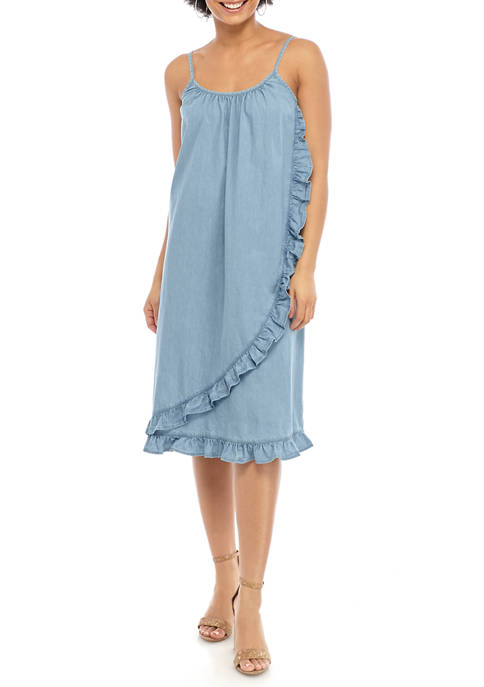 Womens Ruffle Cami Dress