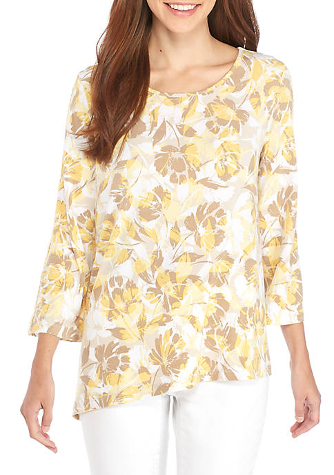 New Directions® Flutter Sleeve Cut Out Top