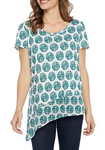 New Directions® Asymmetric Hem Knit Tee