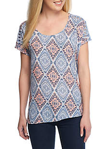 Cutwork Embroidered Tee