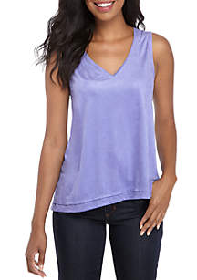 Suede Front Tank