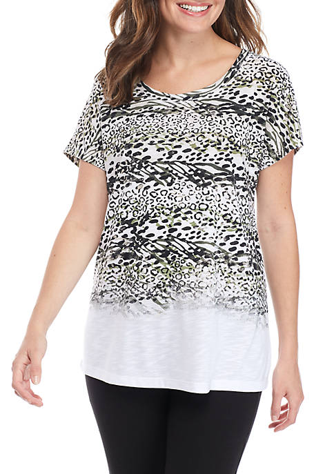 New Directions® Printed Athleisure T-Shirt