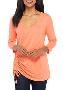 Three-Quarter Sleeve Solid Tunic