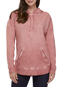 Long Sleeve Draw Cord Hood Pullover