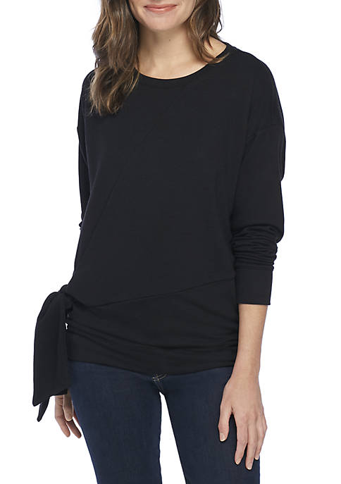 New Directions® Long Sleeve Knot Front Tunic