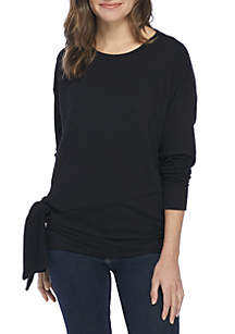 Long Sleeve Knot Front Tunic