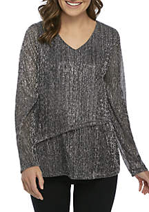 New Directions® Double Layer Long Sleeve Top