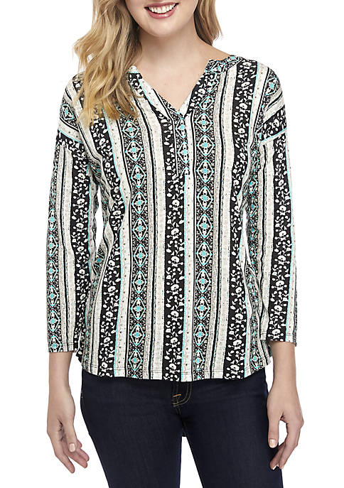 New Directions® Popover Knit Top