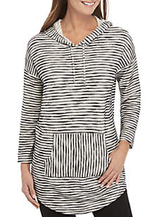 ... New Directions® Striped Pullover Hoodie 4af099184f17