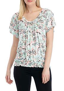 f68aad668 ... New Directions® Smock Waist Flutter Sleeve T Shirt