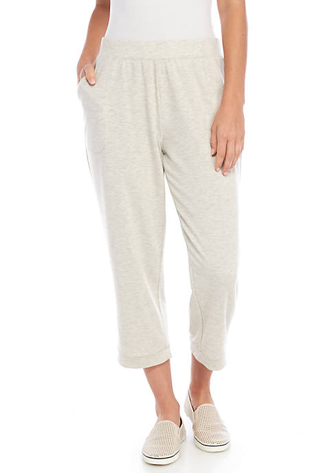 New Directions® Cuffed Heather Capris