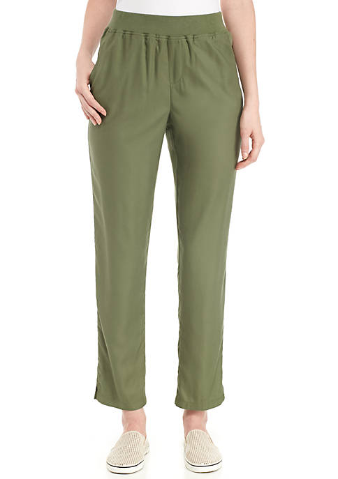 New Directions® Solid Woven Ankle Pants