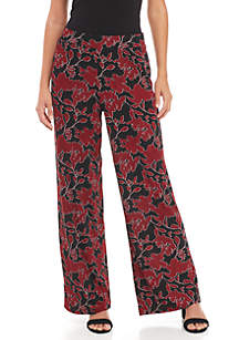 Printed Knit Pull-On Pant