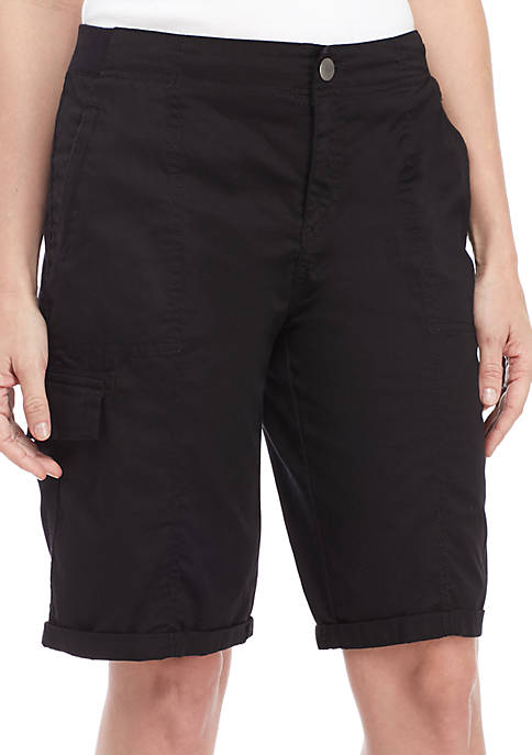 New Directions® Cargo Bermuda Shorts