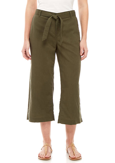 New Directions® Belted Wipe Leg Crop Pants