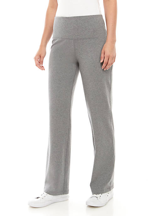 New Directions® Straight Leg Heathered Stretch Pants