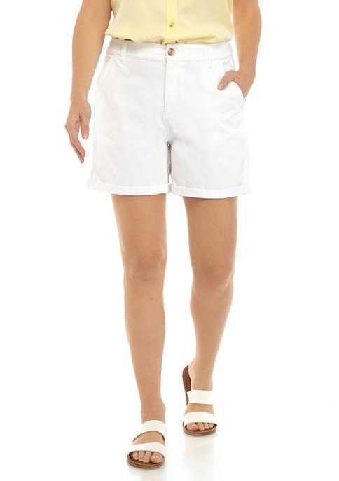 Womens Washed Chino Shorts