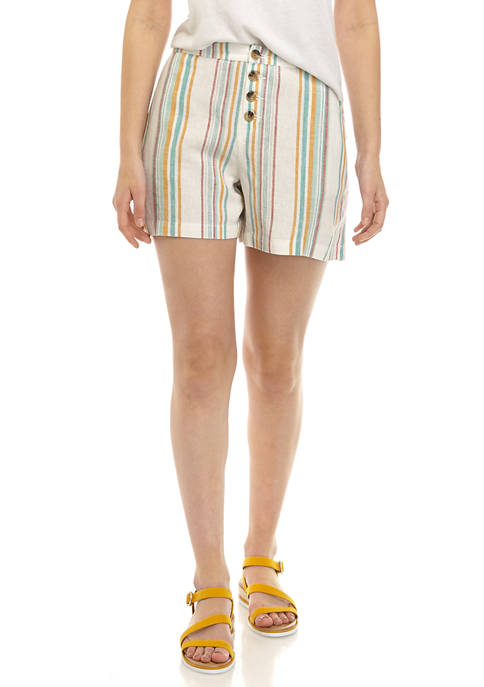 Womens Button Front Shorts