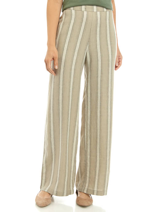 Womens Tie Waist Pull On Pants