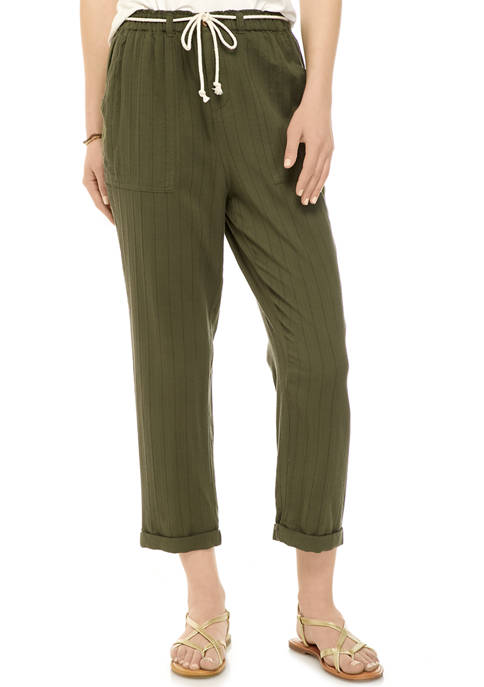 New Directions® Womens Belted Beach Pants