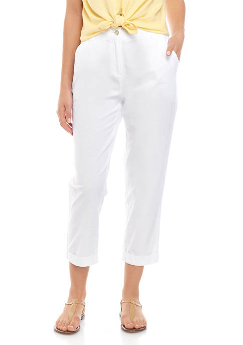 New Directions® Womens Linen Jeans