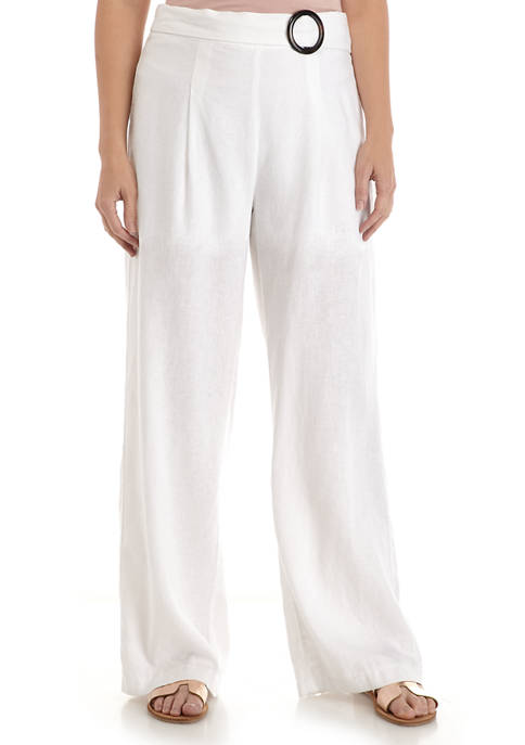 New Directions® Womens Belted Waist Pants