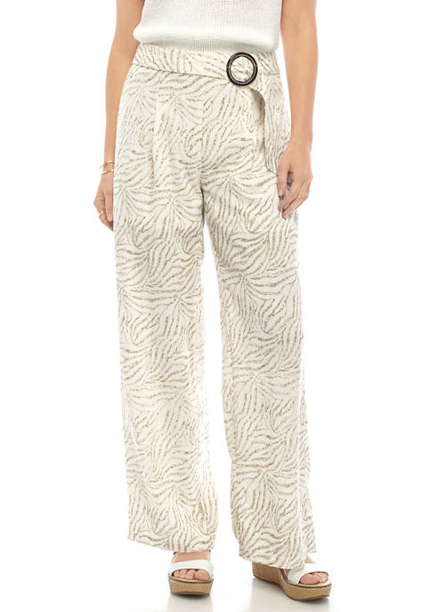 Womens Belted Waist Pants
