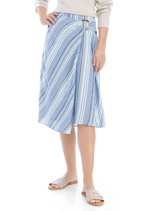 Womens Faux Wrap Skirt