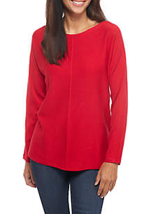 Solid Dolman Sleeve Sweater