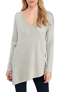 Long Sleeve Asymmetrical Pullover Sweater