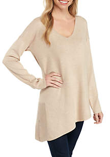 Long Sleeve Asymmetrical Pullover Sweater