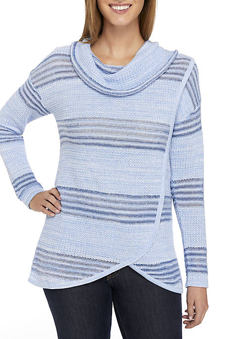 New Directions® Long Sleeve Cowl Neck Sweater