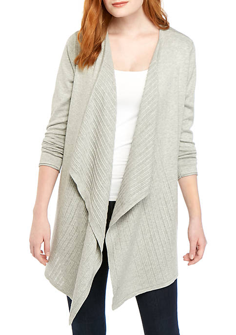 New Directions® Long Sleeve Heather Cardigan