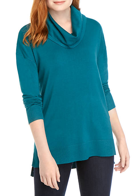 New Directions® Long Sleeve Cowl Neck Solid Top