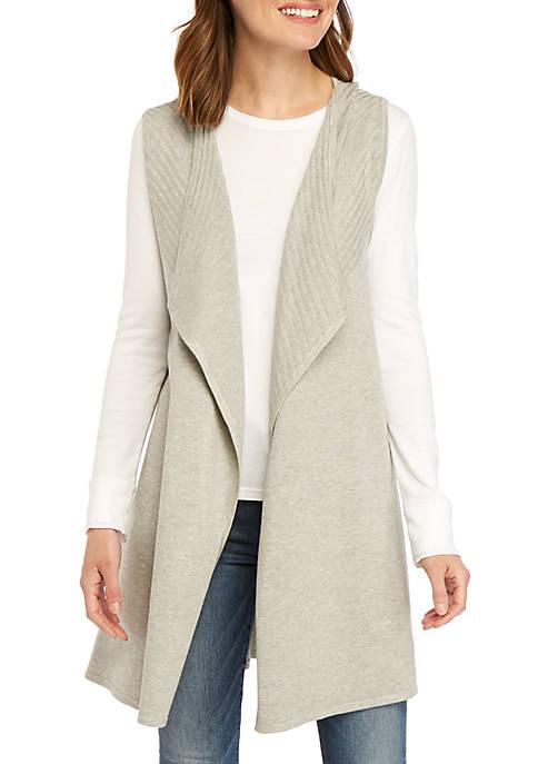 Sleeveless Heather Rib Knit Vest