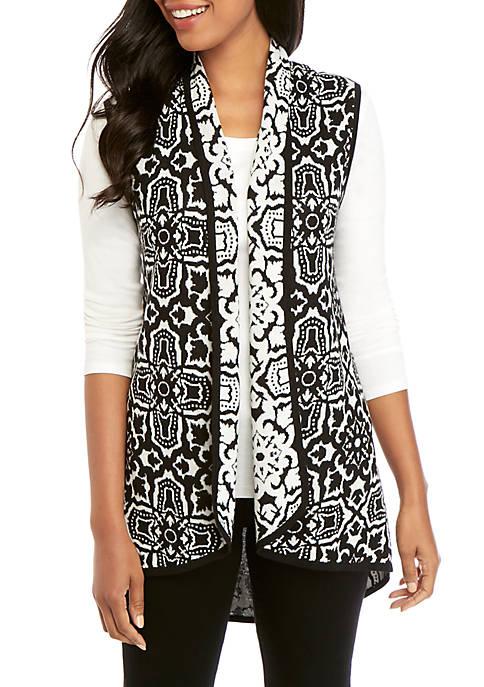 New Directions® Double Knit Jacquard Vest