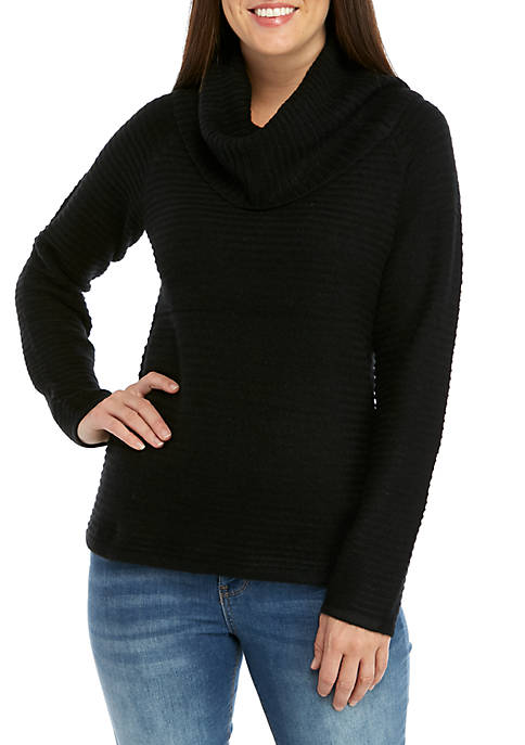 New Directions® Soft Textured Cowl Neck Sweater