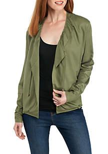 Woven Rib Solid Jacket